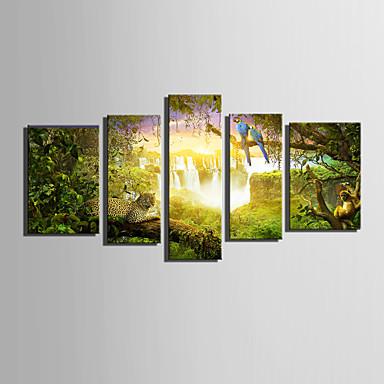 プリント 風景 動物 近代の 5枚