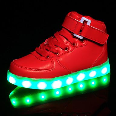 女の子 靴 レザー 春 コンフォートシューズ / ライトアップシューズ スニーカー かぎホック / LED のために ホワイト / ブラック / レッド