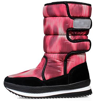女性用 冬用ブーツ スエード革 / ナイロン スキー / ダウンヒル 防水 / アンチスリップ 冬