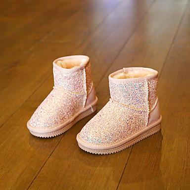 Tyttöjen Kengät Glitter Comfort Bootsit Käyttötarkoitus Kausaliteetti Musta Purppura Pinkki