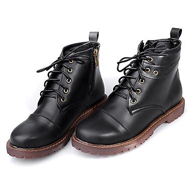 BootsitNaiset-PU-Musta Vaalean ruskea-Rento-Comfort