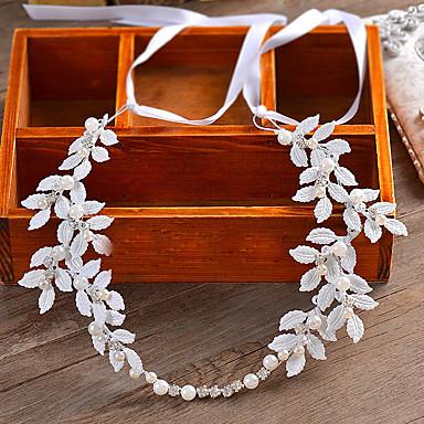 成人用 ラインストーン 人造真珠 ファブリック かぶと-結婚式 パーティー カジュアル ヘッドバンド 1個