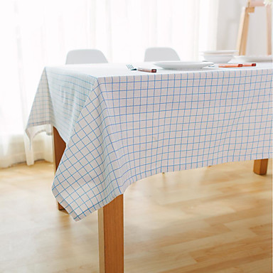 Neliö Gingham Table Cloths , Linen materiaali Hotel ruokapöytä Taulukko Dceoration