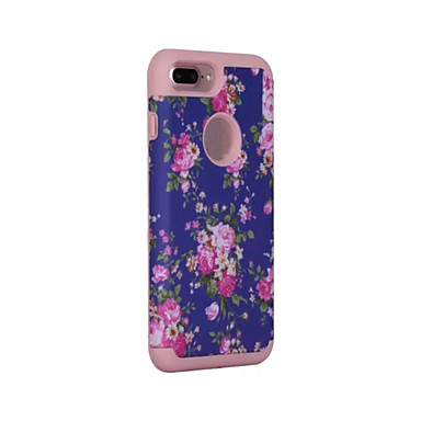 Capinha Para Apple iPhone 6 iPhone 7 Plus iPhone 7 Anti-poeira Antichoque Capa Proteção Completa Côr Sólida Rígida Silicone para iPhone 7