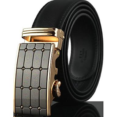 Homens Luxo / Trabalho / Casual Pele / Liga, Cinto para a Cintura - Fashion Sólido