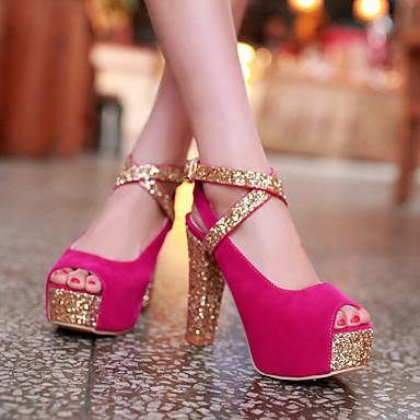 Printemps Chaussures 05609613 Eté amp; Bottier Automne amp; Bleu Soirée Synthétique Rouge Evénement Talon Soirée Evénement ouvert Polyuréthane Paillette Bout Sandales Femme Noir 1txdSt