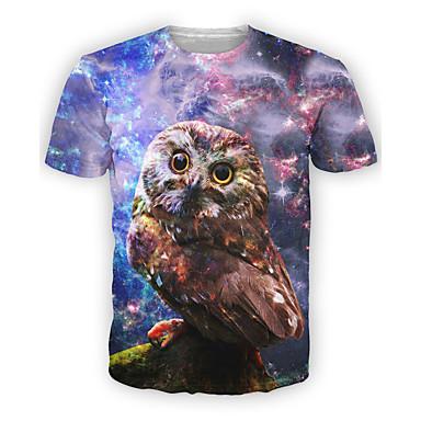 Fest/Feiertage Halloween Kostüme Violett Druck Top T-shirt Mann