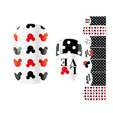 3D Nail Stickers Cartoon Fashion Lovely Daily High Quality