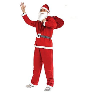 Verwarm de kerst te koop! Kerstmis de Kerstman kostuum vijf sets van niet-geweven kleding mannelijke partij prestaties kleding