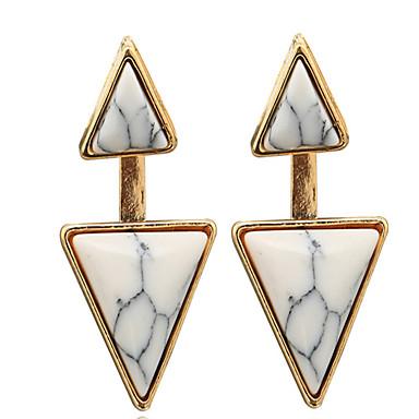 Naisten Niittikorvakorut ylellisyyttä koruja Personoitu Eurooppalainen Turkoosi Metalliseos Geometric Shape Triangle Shape Korut