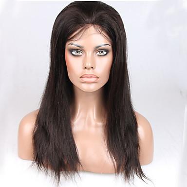 Aidot hiukset Full Lace Peruukki Suora 130% Tiheys 100% käsinsidottu Afro-amerikkalainen peruukki Luonnollinen hiusviiva Lyhyt