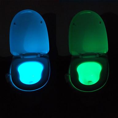 תנועת youoklight מנורת לילה טואלט חיישן מופעל, 8-מחזור צבע, להשתין שמח
