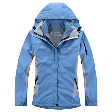 Women's Hiking 3-in-1 Jackets Outdoor Winter Waterproof Thermal / Warm Windproof Breathable 3-in-1 Jacket Softshell Jacket Top Full Length Visible Zipper Skiing Camping / Hiking Leisure Sports