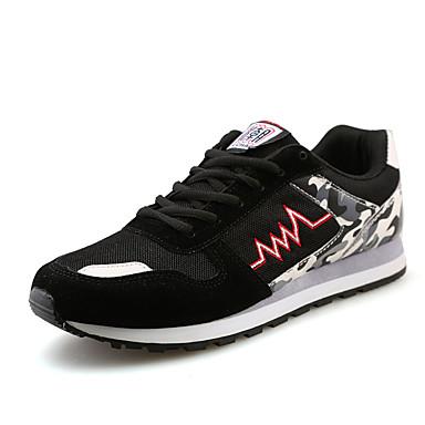 Herren-Sneaker-Lässig-PU-Flacher Absatz-Komfort-Lila Grau Marinenblau