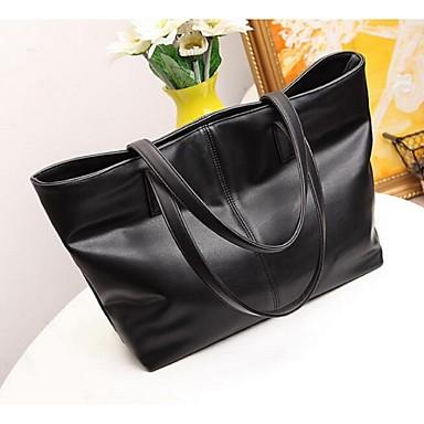 Damen Taschen PU Tragetasche mit für Normal Schwarz