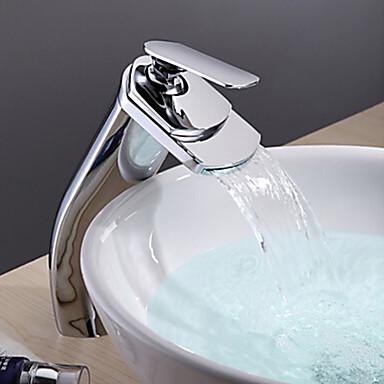 Kylpyhuone Sink hana - Vesiputous Kromi Integroitu Yksi kahva yksi reikä