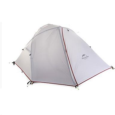 Naturehike 2人 テント ダブル キャンプテント 1つのルーム テント 保温 防湿 通気性 携帯用 防風 防雨 折り畳み式 3 季節 のために ハイキング キャンピング 旅行 アルミ キャンバス cm