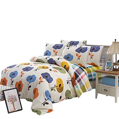 Uutuudet Pussilakanasetti setit 4 osainen Polyesteri Kuviointi Herkkä tulostus Polyesteri Twin / Full / Queen4kpl (1 päiväpeite, 1