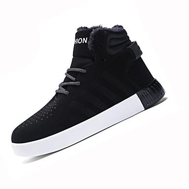 男性用 靴 PUレザー 冬 コンフォートシューズ / スノーブーツ ブーツ ウォーキング ブラック / ベージュ / レッド