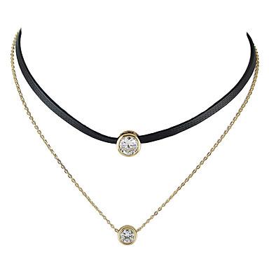 للمرأة قلادات ضيقة / وشم المختنق - موديل الوشم, أساسي, موضة ذهبي قلادة مجوهرات من أجل فضفاض