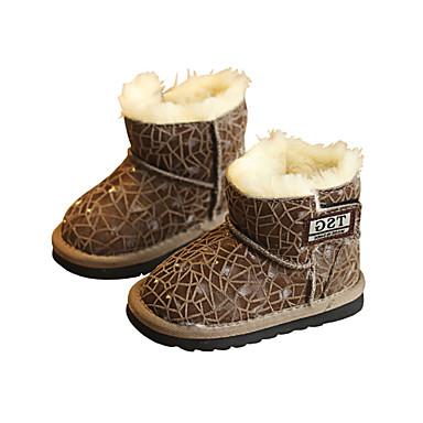 Jungen-Stiefel-Lässig-Leder-Flacher Absatz-Komfort-
