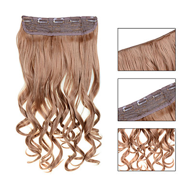 Clip In Human Hair Extensions Wavy 1pc/Pack 24 inch