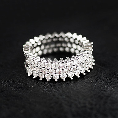 levne Prsteny-Dámské Prsten Stříbro Luxus Fashion Ring Šperky Stříbrná Pro Svatební Párty Ležérní 6 / 7 / 8 / 9 / 10