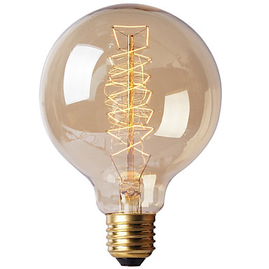 Ecolight™ 1pc 40W E27 E26 / E27 G80 Warmes Weiß 2300k Glühbirne Vintage Edison Glühbirne 220-240V