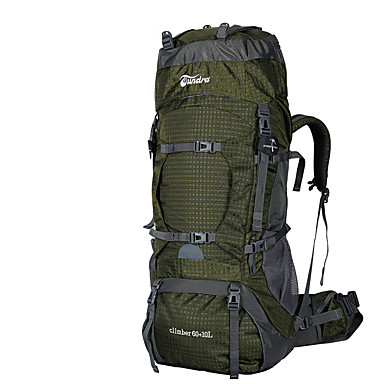 60 L バックパッキング用バックパック バックパック リュックサック 登山 レジャースポーツ キャンピング&ハイキング 旅行 防水 速乾性 耐久性 高通気性 コンパクト ナイロン