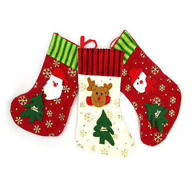 Julepynt Julefest Tilbehør Gaveposer Leketøy Sokker tekstil 1 Deler