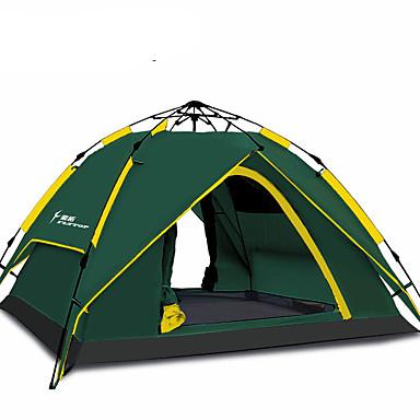 3-4 Personen Zelt Dreifach Camping Zelt Einzimmer warm halten Feuchtigkeitsundurchlässig Gut belüftet Atmungsaktivität für Jagd Wandern