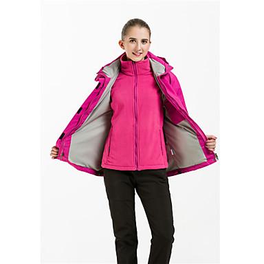 Damen 3-in-1 Jacken Wasserdicht warm halten Windundurchlässig Fleece Innenfutter antistatisch Atmungsaktiv Trainingsanzug Overalls für