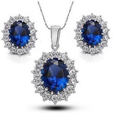 Mujer Conjunto de joyas - Plateado Incluir Blanco / azul Para Boda Fiesta