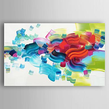 Maalattu Abstraktit maisemakuvat öljymaalauksia,Moderni 1 paneeli Kanvas Hang-Painted öljymaalaus For Kodinsisustus