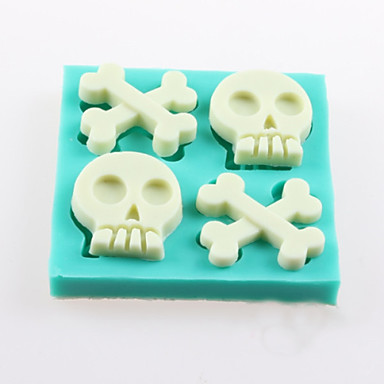 csontok a koponya fondant torta csokoládé szilikon öntőforma, dekorációs szerszám bakeware
