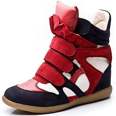 Mulheres Sapatos Sintético Primavera / Verão / Outono Creepers / Gladiador / Curta / Ankle Botas Plataforma Preto / Vermelho