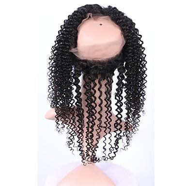 360 Frontal Locken Remi-Haar Schließung Mittelbraun Schweizer Spitze Gramm Cap Größe