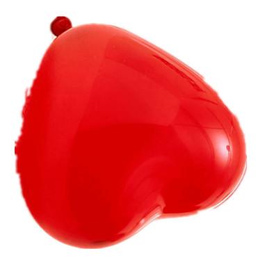 Ballons Urlaubszubehör Kreisförmig Gummi Rot