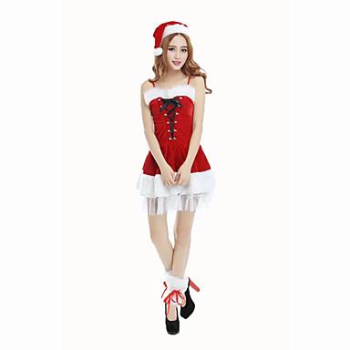 サンタスーツ パーティーコスチューム 仮面舞踏会 女性用 クリスマス イベント/ホリデー ハロウィーンコスチューム ゼブラプリント