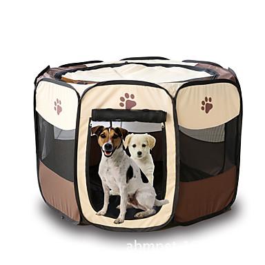 Gato Perro Tienda Mascotas Portadores Plegable Caricatura Amarillo Rosa Marrón Rojo Rojo oscuro