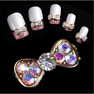 10 pcs Joyas de Uñas Brillantes arte de uñas Manicura pedicura Diario Glitters / Moda / Joyería de uñas