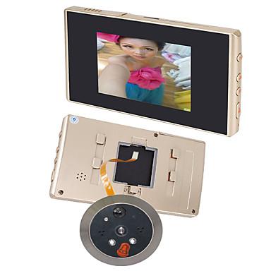 3,5 lcd de vídeo digital 120 amplo ângulo de visão de detecção de câmera campainha visor da porta auto olho mágico movimento noite
