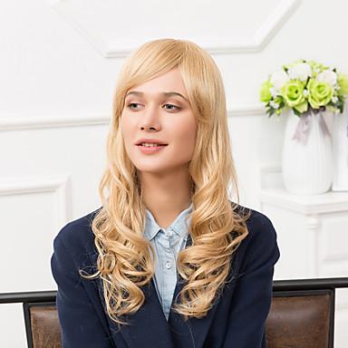 魅力的な長いキャップレスは自然なウェーブのかかった人間の毛髪のかつら