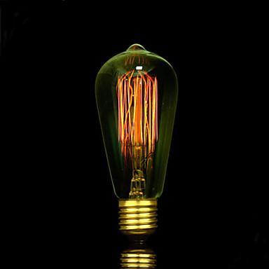 1pc 25W E27 E26/E27 E26 ST58 Toplo bijelo 2300 K Žarulja sa žarnom niti Edison AC85-265 AC 220V AC 85-265V V