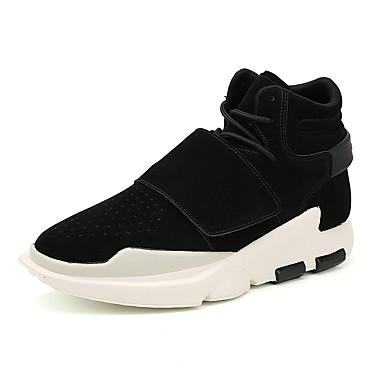 Herrn Schuhe Kunstleder Winter Frühling Sommer Herbst Komfort Sneakers Walking Booties / Stiefeletten Schnürsenkel für Normal Schwarz