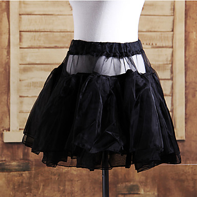 Klasická a tradiční lolita Lolita Satén Dámské Sukně Cosplay Bílá Černá Short Length