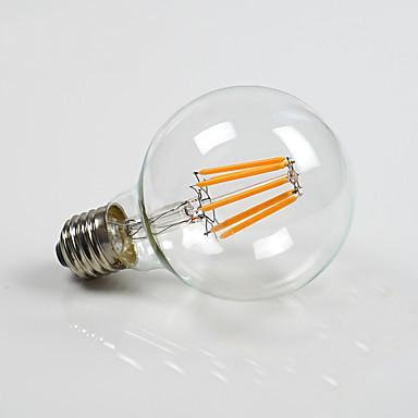 800 lm E26/E27 LEDボール型電球 G80 8 LEDの COB 調光可能 温白色 AC 220-240V AC 110〜130V
