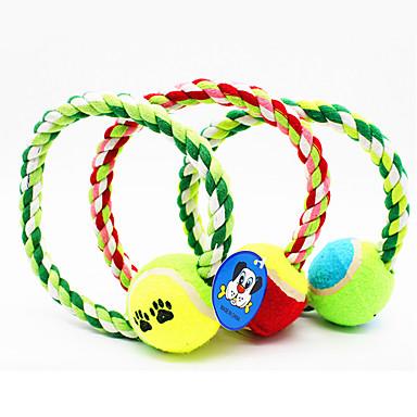 Haustierspielsachen Kau-Spielzeug Seil Tennisball