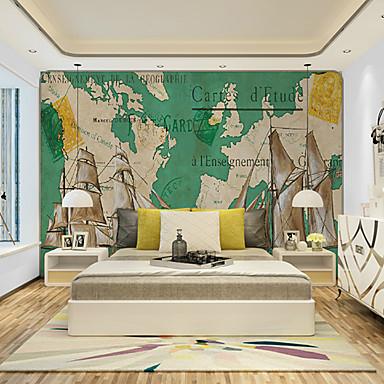 フローラル柄 アールデコ調 3D ホームのための壁紙 クラシック風 ウォールカバーリング , キャンバス 材料 接着剤必要 壁画 , ルームWallcovering