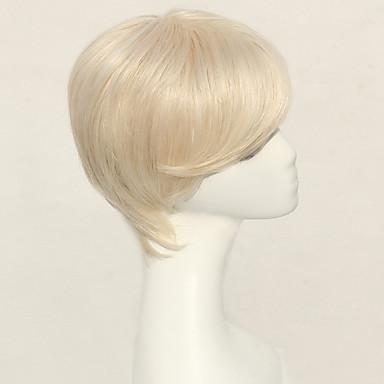 저렴한 가발 & 헤어 연장-인간의 머리카락없는 Capless 가발 인모 클래식 / 자연스런 웨이브 짧은 머리 형 2019 년 스타일 옴브레 기계 제작 가발 일상